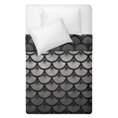 Scales3 Black Marble & Gray Metal 1 (r) Duvet Cover Double Side (single Size) by trendistuff