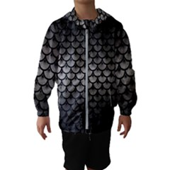 Scales3 Black Marble & Gray Metal 1 (r) Hooded Wind Breaker (kids) by trendistuff