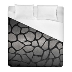 Skin1 Black Marble & Gray Metal 1 Duvet Cover (full/ Double Size) by trendistuff