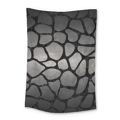 Skin1 Black Marble & Gray Metal 1 Small Tapestry by trendistuff