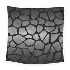 Skin1 Black Marble & Gray Metal 1 Square Tapestry (large) by trendistuff