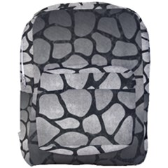 Skin1 Black Marble & Gray Metal 1 Full Print Backpack by trendistuff