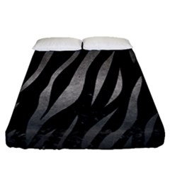 Skin3 Black Marble & Gray Metal 1 Fitted Sheet (queen Size) by trendistuff