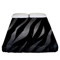 Skin3 Black Marble & Gray Metal 1 Fitted Sheet (king Size) by trendistuff