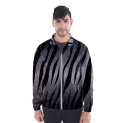 Skin3 Black Marble & Gray Metal 1 (r) Wind Breaker (men) by trendistuff