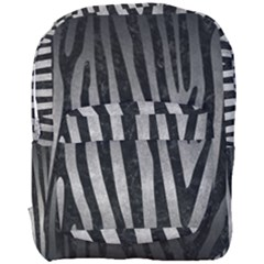Skin4 Black Marble & Gray Metal 1 Full Print Backpack by trendistuff