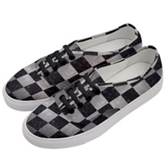 Square1 Black Marble & Gray Metal 1 Women s Classic Low Top Sneakers by trendistuff