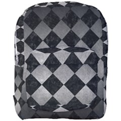 Square2 Black Marble & Gray Metal 1 Full Print Backpack by trendistuff