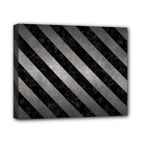 Stripes3 Black Marble & Gray Metal 1 (r) Canvas 10  X 8  by trendistuff