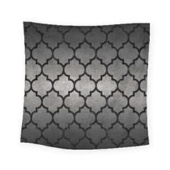 Tile1 Black Marble & Gray Metal 1 (r) Square Tapestry (small) by trendistuff
