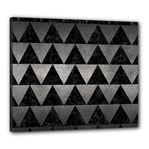 Triangle2 Black Marble & Gray Metal 1 Canvas 24  X 20  by trendistuff