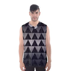 Triangle2 Black Marble & Gray Metal 1 Men s Basketball Tank Top by trendistuff