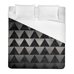 Triangle2 Black Marble & Gray Metal 1 Duvet Cover (full/ Double Size) by trendistuff
