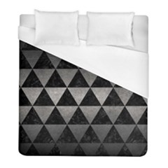 Triangle3 Black Marble & Gray Metal 1 Duvet Cover (full/ Double Size) by trendistuff