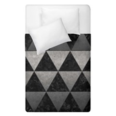 Triangle3 Black Marble & Gray Metal 1 Duvet Cover Double Side (single Size) by trendistuff