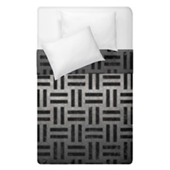 Woven1 Black Marble & Gray Metal 1 (r) Duvet Cover Double Side (single Size) by trendistuff