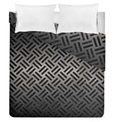 Woven2 Black Marble & Gray Metal 1 (r) Duvet Cover Double Side (queen Size) by trendistuff