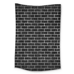 Brick1 Black Marble & Gray Metal 2 Large Tapestry by trendistuff