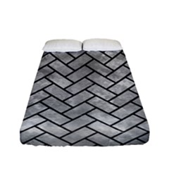 Brick2 Black Marble & Gray Metal 2 (r) Fitted Sheet (full/ Double Size) by trendistuff