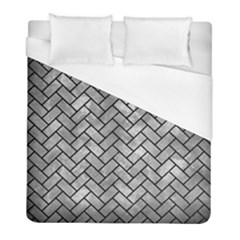 Brick2 Black Marble & Gray Metal 2 (r) Duvet Cover (full/ Double Size) by trendistuff
