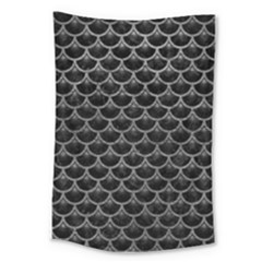 Scales3 Black Marble & Gray Leather Large Tapestry by trendistuff