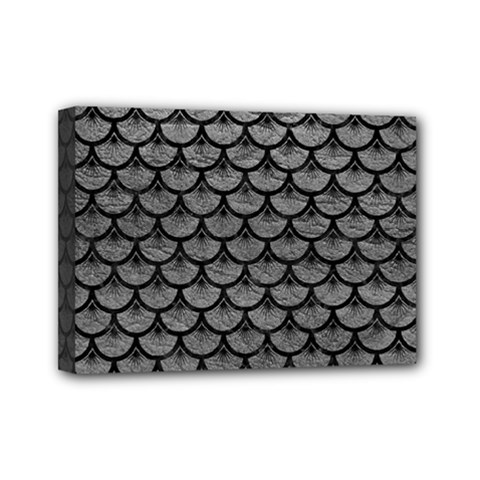 Scales3 Black Marble & Gray Leather (r) Mini Canvas 7  X 5  by trendistuff