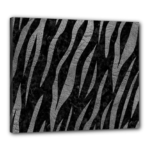 Skin3 Black Marble & Gray Leather Canvas 24  X 20  by trendistuff