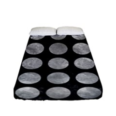 Circles1 Black Marble & Gray Metal 2 Fitted Sheet (full/ Double Size) by trendistuff