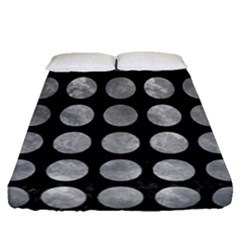 Circles1 Black Marble & Gray Metal 2 Fitted Sheet (queen Size) by trendistuff