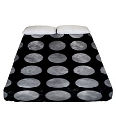 Circles1 Black Marble & Gray Metal 2 Fitted Sheet (king Size) by trendistuff