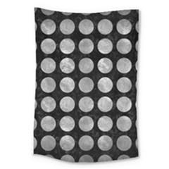Circles1 Black Marble & Gray Metal 2 Large Tapestry by trendistuff