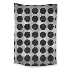 Circles1 Black Marble & Gray Metal 2 (r) Large Tapestry by trendistuff