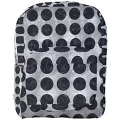 Circles1 Black Marble & Gray Metal 2 (r) Full Print Backpack by trendistuff