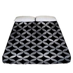 Circles3 Black Marble & Gray Metal 2 Fitted Sheet (queen Size) by trendistuff