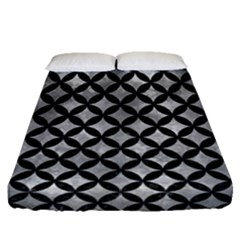Circles3 Black Marble & Gray Metal 2 (r) Fitted Sheet (queen Size)