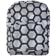 Hexagon2 Black Marble & Gray Metal 2 (r) Full Print Backpack by trendistuff