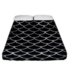 Scales1 Black Marble & Gray Metal 2 Fitted Sheet (king Size) by trendistuff