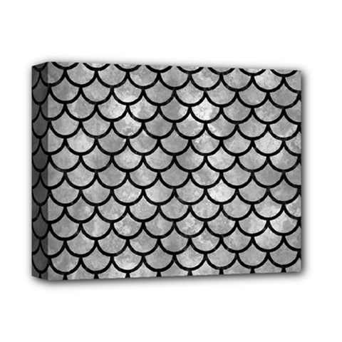Scales1 Black Marble & Gray Metal 2 (r) Deluxe Canvas 14  X 11  by trendistuff