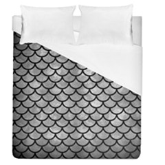 Scales1 Black Marble & Gray Metal 2 (r) Duvet Cover (queen Size) by trendistuff