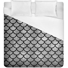 Scales1 Black Marble & Gray Metal 2 (r) Duvet Cover (king Size) by trendistuff