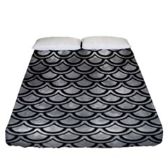 Scales2 Black Marble & Gray Metal 2 (r) Fitted Sheet (queen Size)