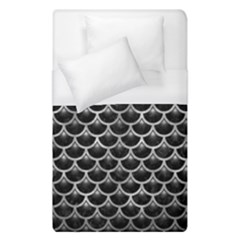 Scales3 Black Marble & Gray Metal 2 Duvet Cover (single Size) by trendistuff