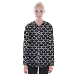 Scales3 Black Marble & Gray Metal 2 Womens Long Sleeve Shirt