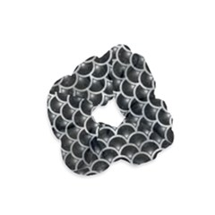 Scales3 Black Marble & Gray Metal 2 Velvet Scrunchie by trendistuff