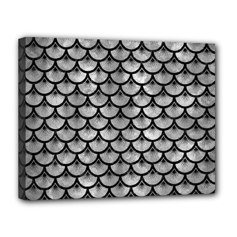 Scales3 Black Marble & Gray Metal 2 (r) Canvas 14  X 11  by trendistuff