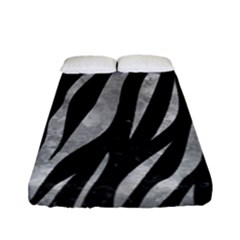 Skin3 Black Marble & Gray Metal 2 Fitted Sheet (full/ Double Size) by trendistuff