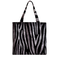 Skin4 Black Marble & Gray Metal 2 (r) Zipper Grocery Tote Bag by trendistuff