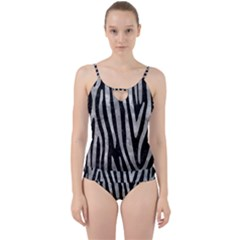 Skin4 Black Marble & Gray Metal 2 (r) Cut Out Top Tankini Set