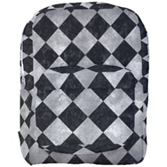 Square2 Black Marble & Gray Metal 2 Full Print Backpack by trendistuff