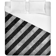 Stripes3 Black Marble & Gray Metal 2 Duvet Cover (california King Size) by trendistuff